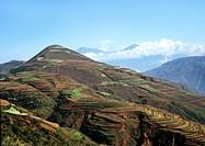 Yunnan Red Land East Chuanwu Meng mountain scenery