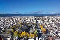 Kyoto cityscape, Kyoto prefecture, Japan