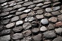 Old cobblestones in Memmingen / Memmingen, Germany