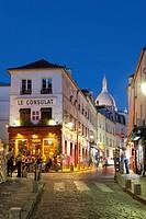 Street of Montmartre, Paris, Ile-de-france, France.