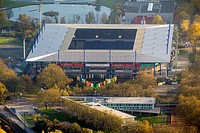View of the sports venue Schauinsland Reisen Arena ( formerly Wedau Stadion ) in the Neudorf district of the Ruhrgebiet city Duisburg in the state Nor...