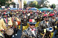 The Kaapse Klopse / Minstrels parade in Cape Town, South Africa.