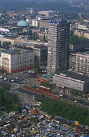 Town view of Warsaw, Poland