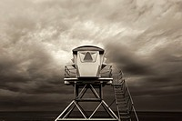 Lifeguard Tower at Ellen Browning Scripps Park. La Jolla, California, United States.