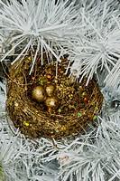 Christmas Decorations 2014 Nest of Golden Eggs.