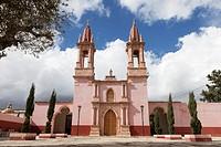 Church of the Sacred Heart of Jesus in the village of Santa Rosa de Lima - Guanajuato, Mexico.