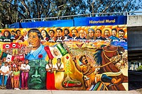 Historical Mural at Chicano Park. San Diego, California, United States.