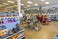 Interior of retail kitchen outlet store