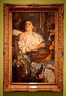 Canción alegre (happy song). Antonio Mancini. Museo Nacional de Bellas Artes. National museum of Fine Arts. Recoleta. Buenos Aires. Argentina.