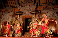 "Dance called """"Legong Dance"""" at the Palace of Ubud. Ubud-Bali. Traditional balinese dance in Ubud. There are many Balinese dance performances to see ..."