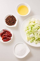 Fried cabbage ingredients