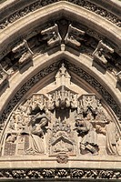 Spain, Andalusia, Seville, Cathedral, Door of the Nativity,.
