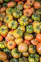 Lots of heirloom tomatoes