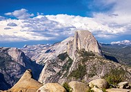 View of Half Dome from Glacier Point. Yosemite National Park, California, United States.