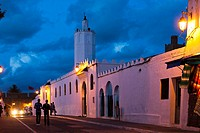The grand mosque. Asilah, Morocco, North Africa.