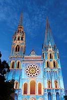 ´Chartres en Lumières´ spectacle, Chartres, Eure-et-Loir, Centre, France.