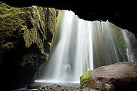 Gljufrabui or Gljufurafoss Waterfall - South Iceland.