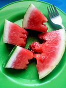 Watermelon, Crete, Greece.
