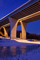 A viaduct (bridge) along Dundas Street that spans 16 Mile Creek and the Lions Valley in Oakville, Ontario, Canada.