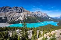 Beautiful Peyto Lake in the Banff National Park, Alberta, Canada