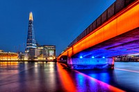 London Bridge and The Shard, London, England.