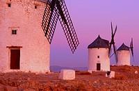 Consuegra, Windmills, Toledo province, Route of Don Quixote, Castilla-La Mancha,.