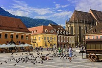 main square in Brasov,Romania.