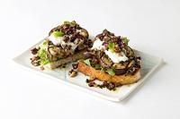 Open-face eggplant sandwiches