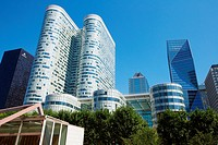 Office buildings. La Defense. Paris. France. Europe.