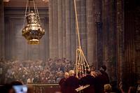 Censer in the Cathedral of Santiago de Compostela, A Coruña, Galicia, Spain