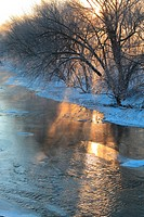 Shell Rock River in Winter - Shell Rock, IA.