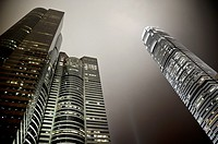 Hong Kong skyline at night Central business and financial district (IFC 2 Tower at the left), Hong Kong Island, Hong Kong, China, East Asia.
