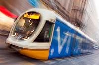 Streetcar of Milan, Lombardy, Italy.