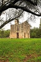 Stabilized ruins of the original homestead of Thomas F. McKinney. McKinney Falls State Park - Austin, Texas.