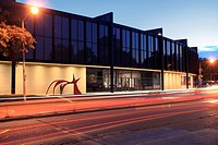 Museum of Fine Arts Houston - Caroline Wiess Law Building, Houston, TX. The North end and main entrance of the Caroline Wiess Law Building housing som...