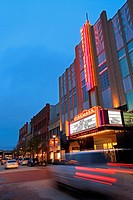 Theater at Market Street - The Woodlands, TX. An upscale shopping center with shops, eateries and a movie theater.