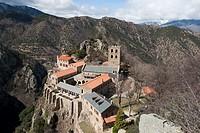 Saint Martin du Canigou, Casteil, Pyrenees-Orientales département, France.