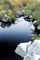 Bibei river landscape in As Ermidas, Orense, Spain.