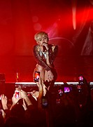 Miley Cyrus performs live at G-A-Y. At one point during her set the singer presented her friend with a birthday cake. Featuring: Miley Cyrus Where: Lo...
