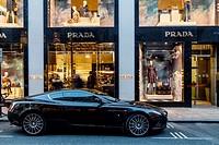 The Prada Store In Old Bond Street, London, England.