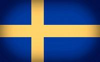 Retro look Flag of Sweden