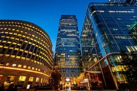 Canary Wharf Financial District, London, England.