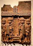 Plaque showing the Façade of the Royal Palace 1898. Part of the Benin Bronze collection