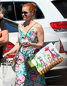 Amy Adams visits the Sherman Oaks Macy's store with husband Darren Le Gallo and daughter Aviana Featuring: Amy Adams Where: Los Angeles, California, U...