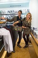 Celebrities attending the Anson's Fashion Night at Anson's Moenckebergstrasse Featuring: Jana Julie Kilka,Thore Schoelermann Where: Hamburg, Germany W...
