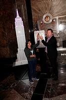 Musician and philanthropist Julian Lennon lights up The Empire State Building in purple for The Lupus Foundation Featuring: Amarissa Mauricio,Julian L...