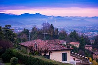 Views of Bergamo in the morning.Italy.