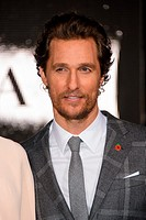 'Interstellar' UK film premiere held at the Odeon Cinema Leicester Square - Arrivals Featuring: Matthew McConaughey Where: London, United Kingdom When...