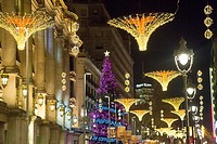 Christmas lighting, Barcelona, Catalunya, Spain.
