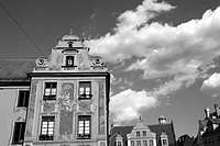 The Baroque facade of the house tax tax house in Memmingen, Germany